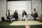 Sarah, Graziela, Marluce e Araújo (e p/ d) durante o Simpósio (Foto: Bárbara Freitas/Divulgação)