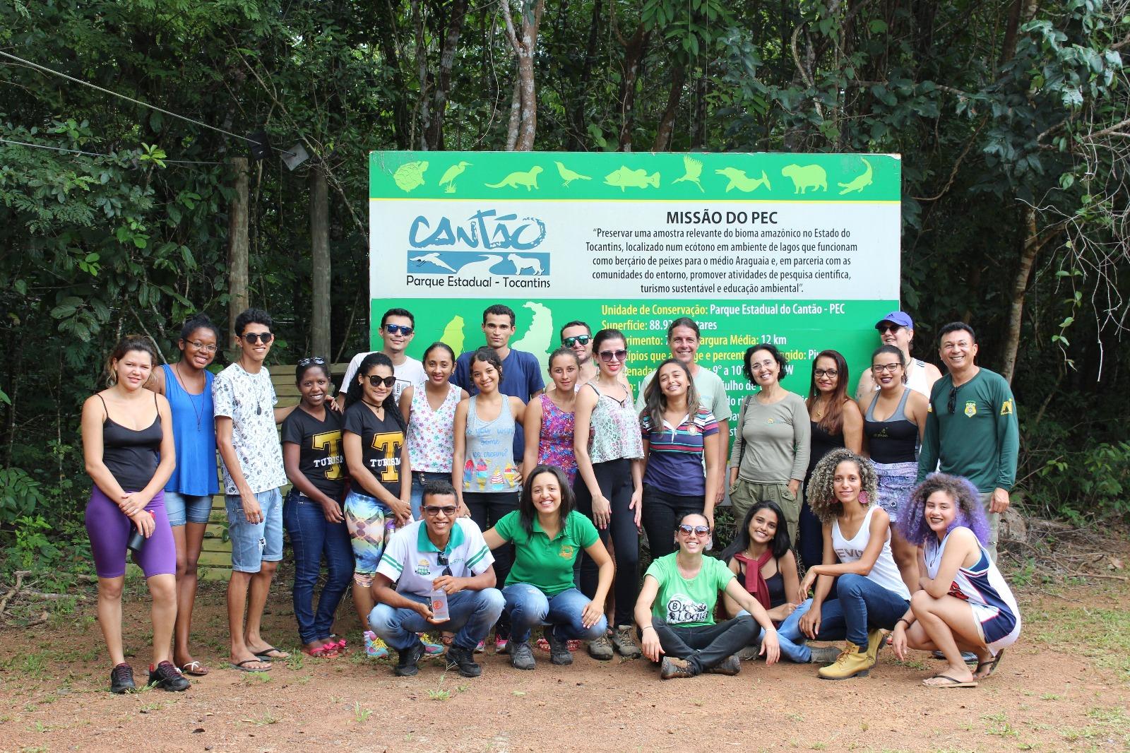 Discentes de Araguaína visitam o Parque Estadual do Cantão